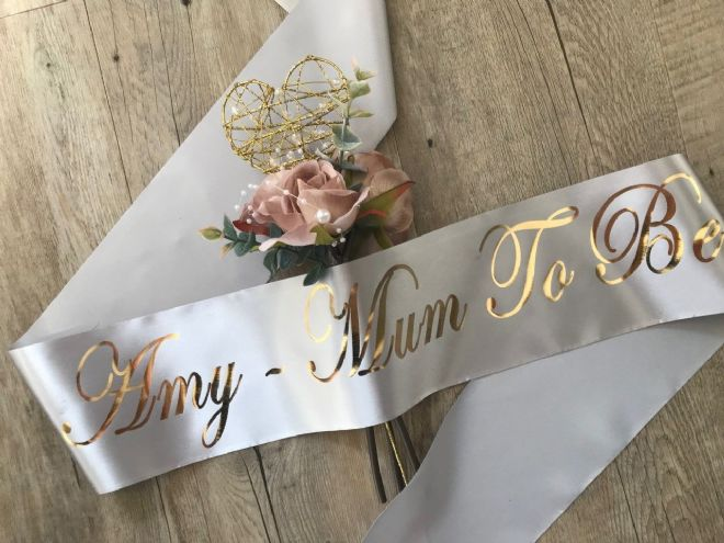 Mum To Be Baby Shower Sash Personalised